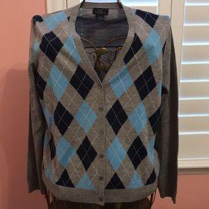 Brooks Brothers Merino Wool XL Cardigan Sweater